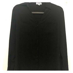 Black small portofino dress shirt (express)